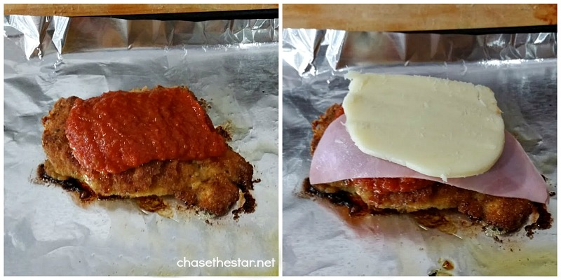 Pollo a la Milanesa with ham. via Chase the Star