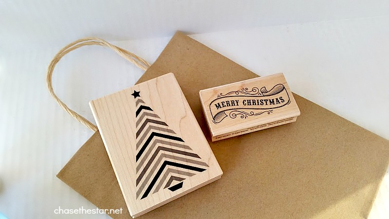 Use stamps from @MichaelsStores to DIY a Gift Bag #michaelsmakers