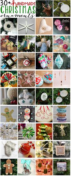 30 DIY Ornaments #bloggerstrimatree