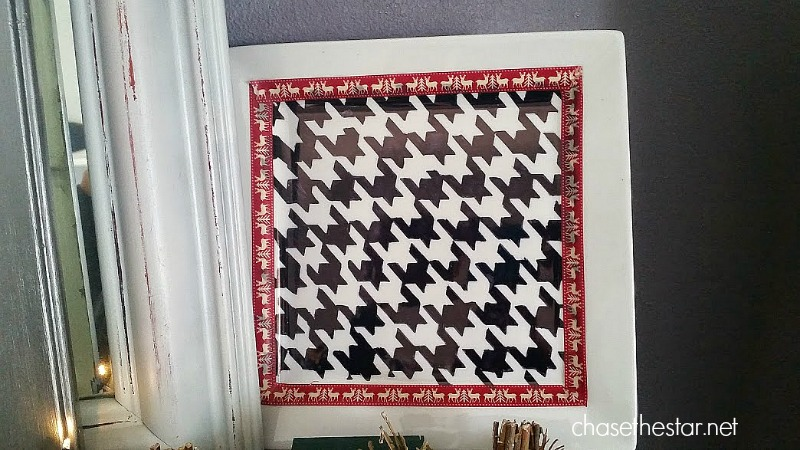 Sharpie Houndstooth Plate, great for holiday decor! #Sharpie
