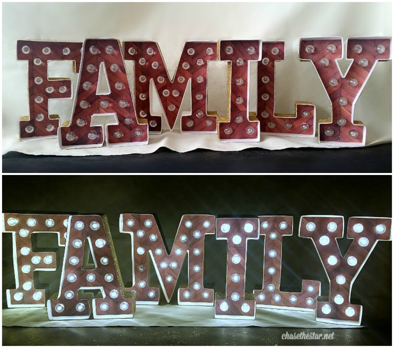 Attractive Easy DIY Marquee Letters VV78