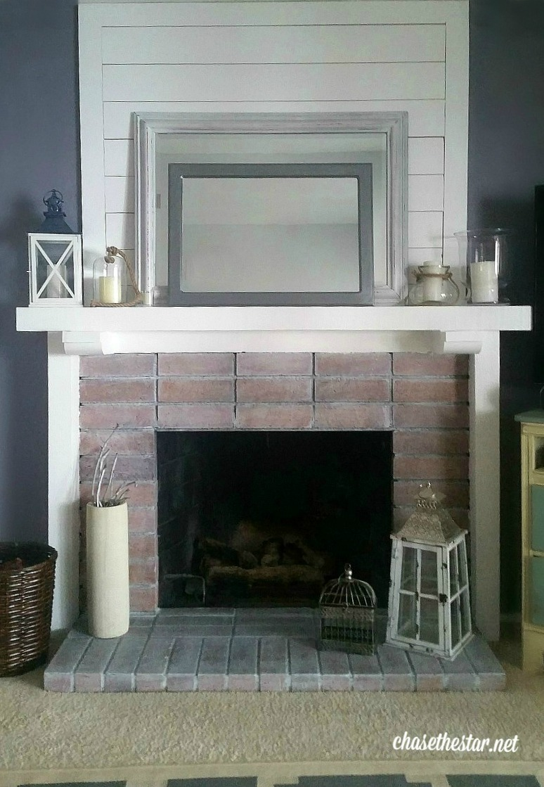 easy fireplace makeover