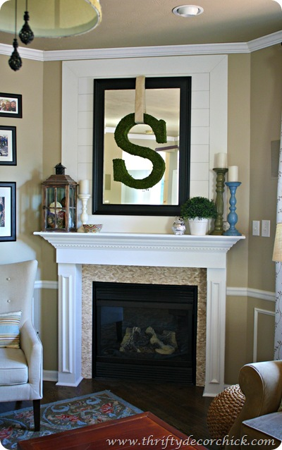 Over the fireplace ideas - How to decorate a mantel with a mirror above it ...
