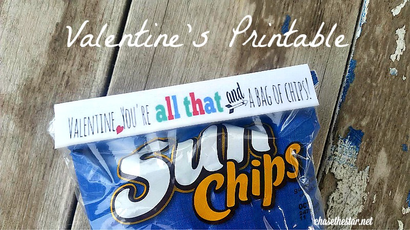 image about You're All That and a Bag of Chips Printable called Valentines Working day Printable