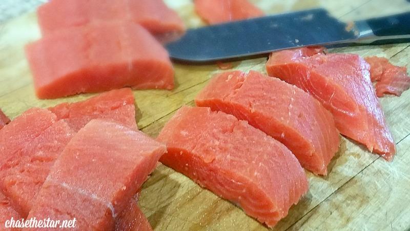 Crispy Salmon Strips #recipe via Chase the Star