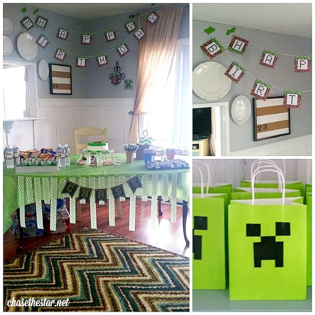 Minecraft party via Chase the Star