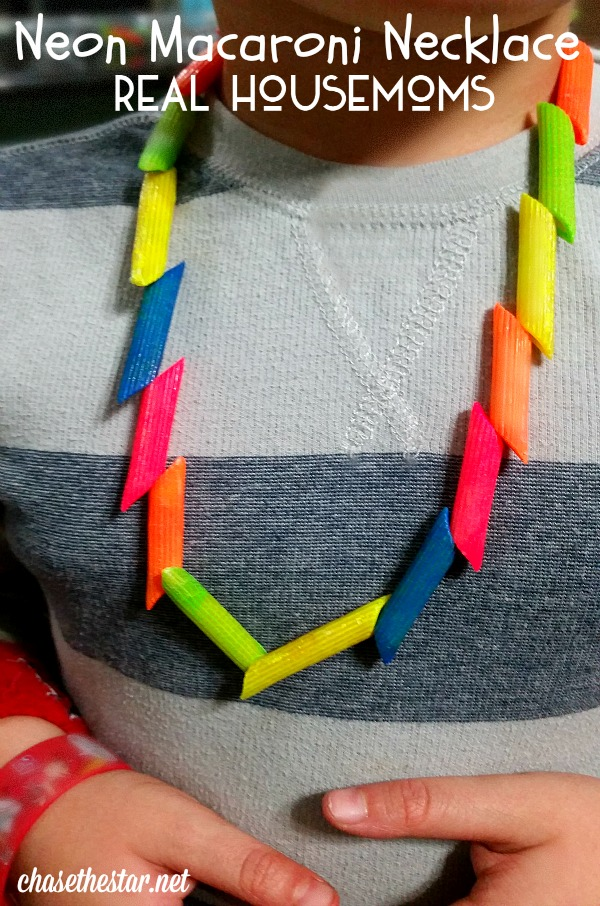 Neon Macaroni Necklace #craft #kidscraft #childrenscraft