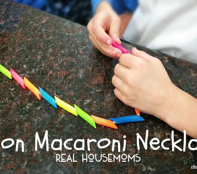 Neon Necklace Kid's Craft
