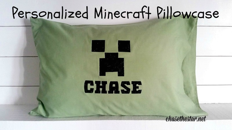 Personalized Minecraft Pillowcase #ironon #partyfavor #cricut @officialcricut