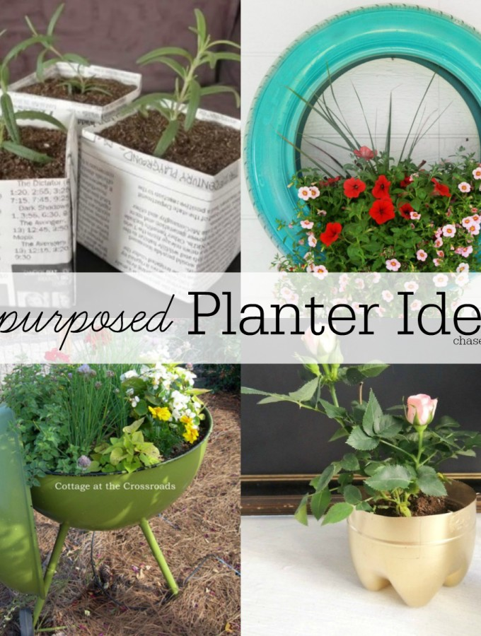 Repurposed Planter Ideas | hellolifeonline.com