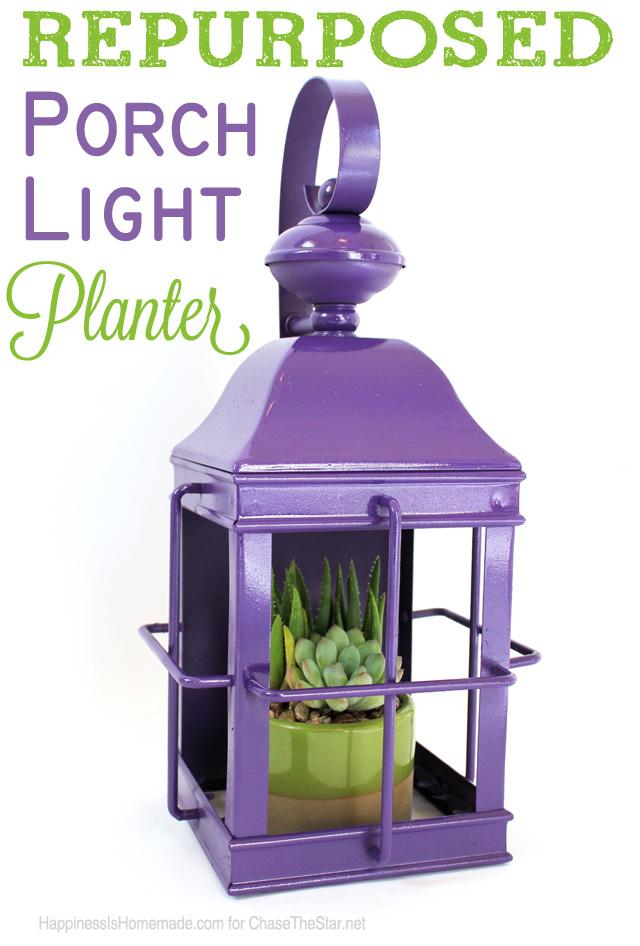 Repurposed-Porch-Light-Planter