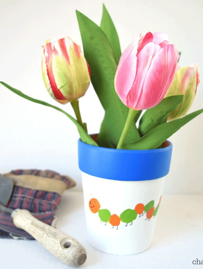 Thumbprint Flower Pot