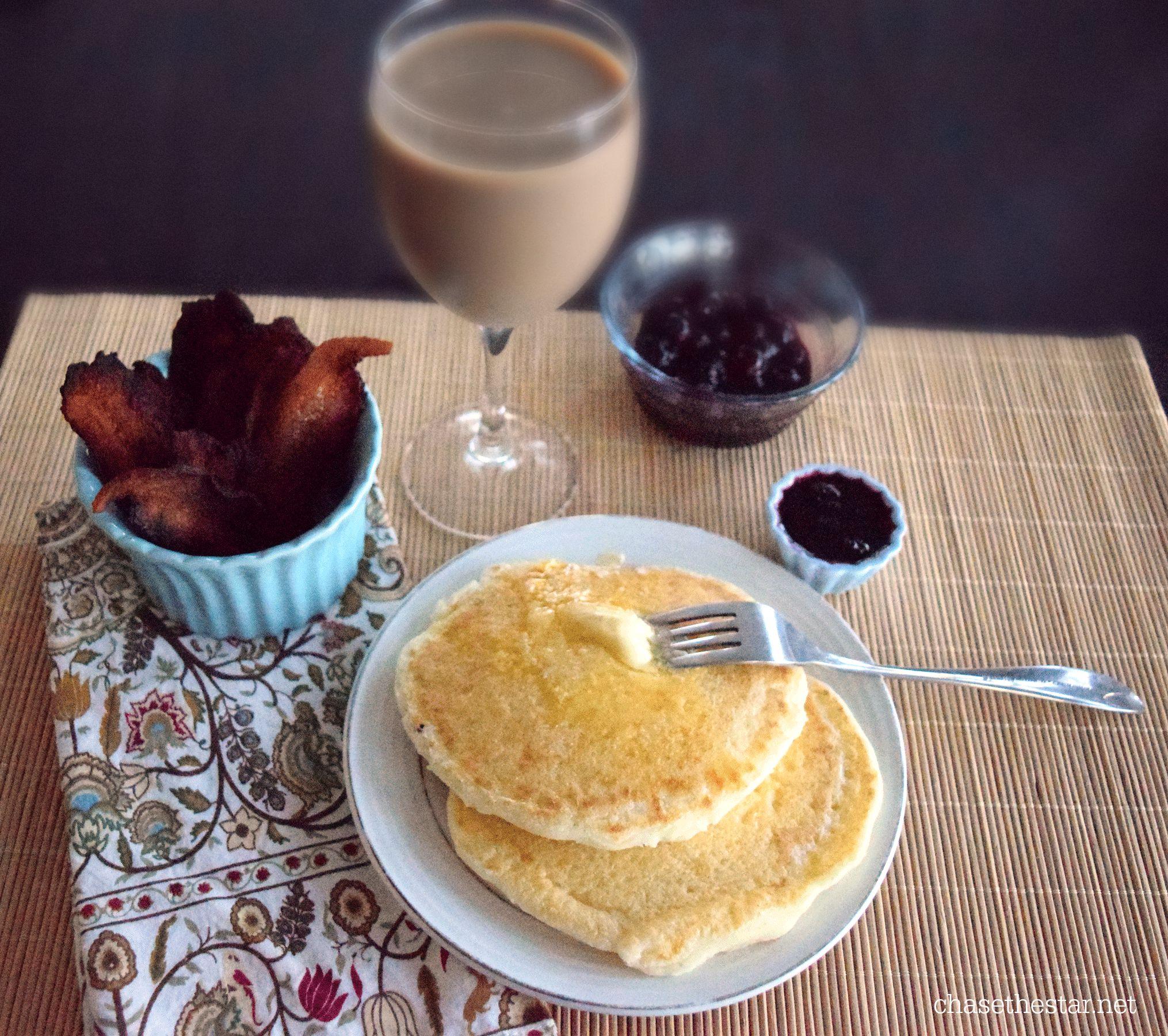 Brunch idea Cornmeal Griddle Cakes #brunch #panfan #IC #ad