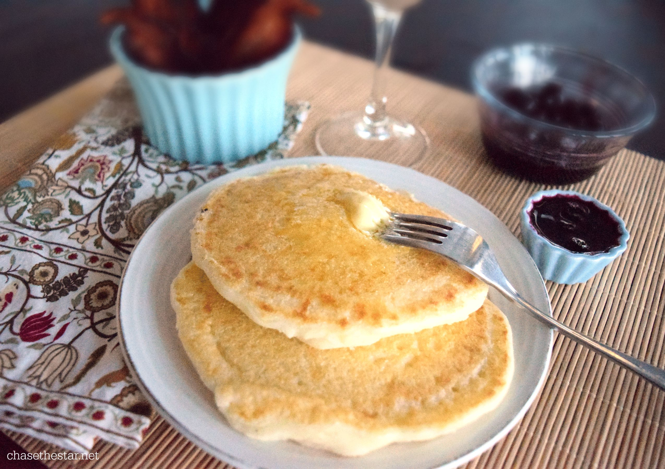 Cornmeal Griddle Cakes #brunch #panfan #IC #ad