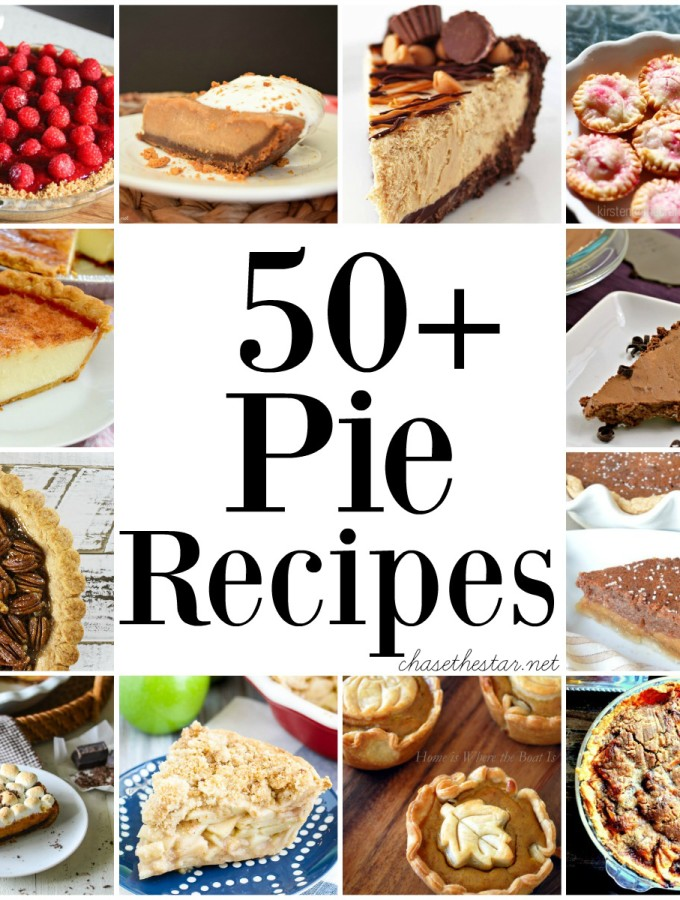 50+ Pie Recipes via Chase the Star feature