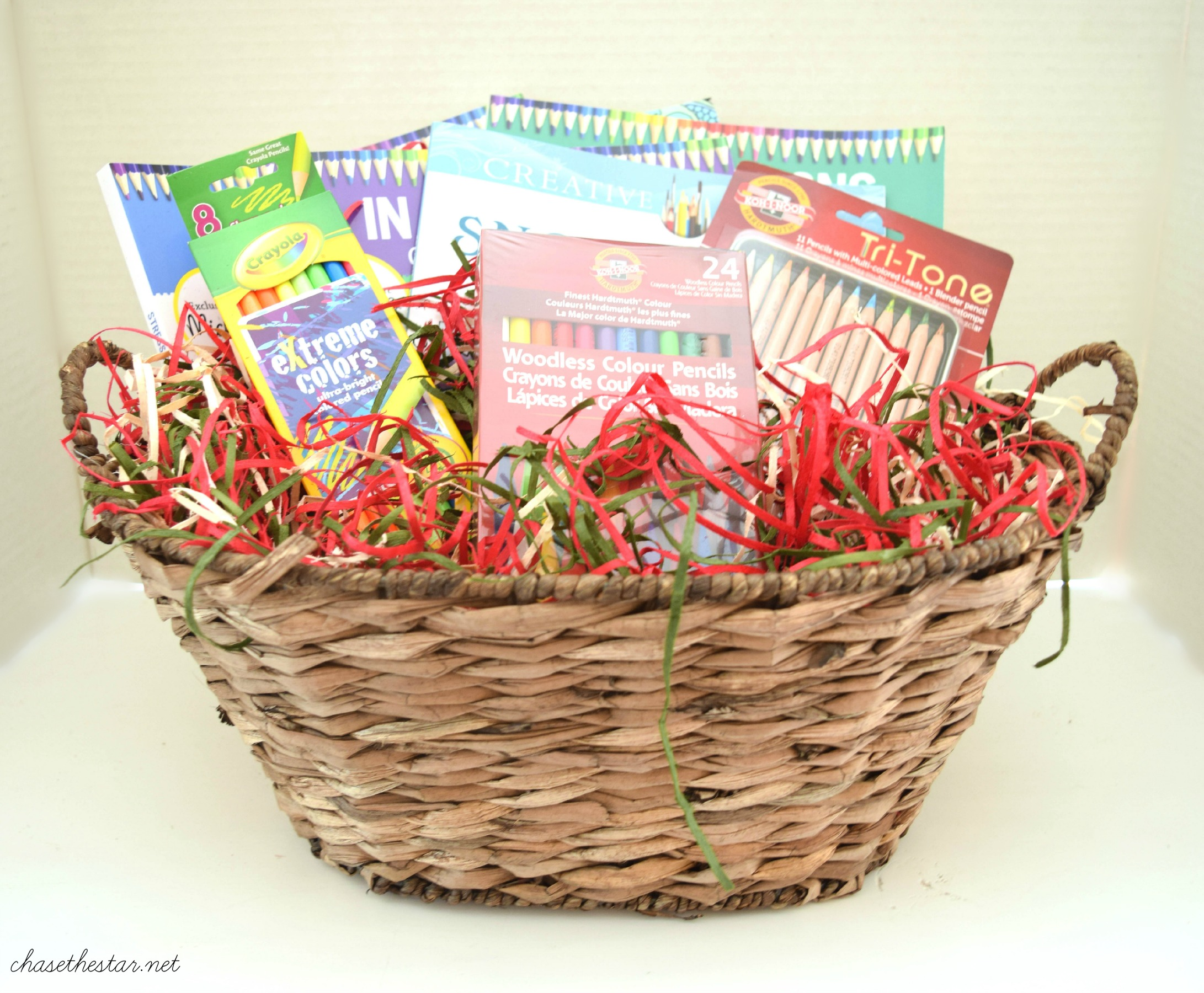 3 diy gift basket ideas adult coloring book gift idea giftbasket michaelsmakers negle Images