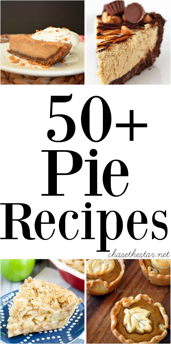 Get ready for the holiday season with this collection of 50+ Pie Recipes via Chase the Star!