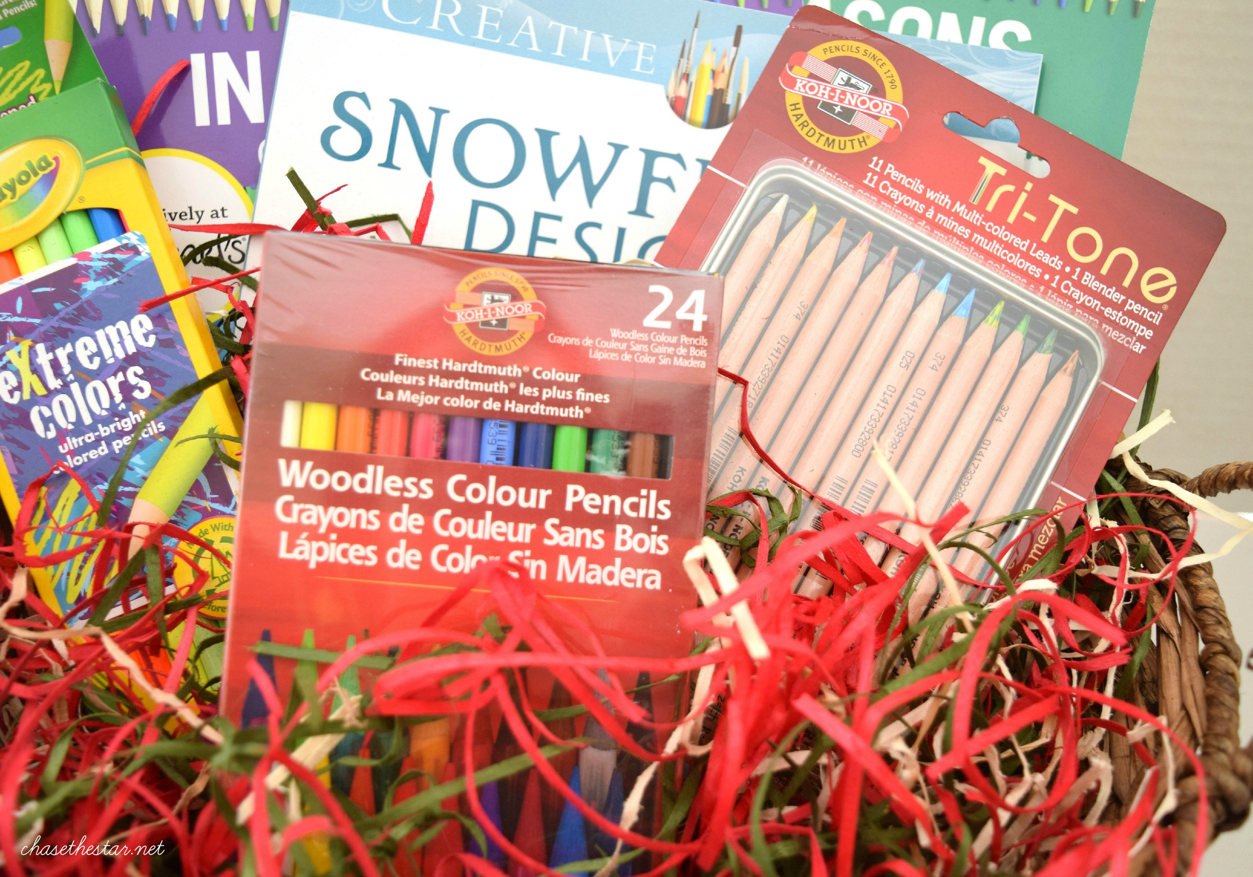 Items for an Adult Coloring Book Gift Basket @MichaelsStores #michaelsmakers