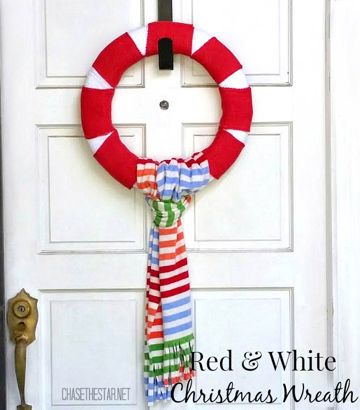 Red-and-White-Winter-Wreath-floracraft-christmaswreath-peppermint-repurposedscarf-22