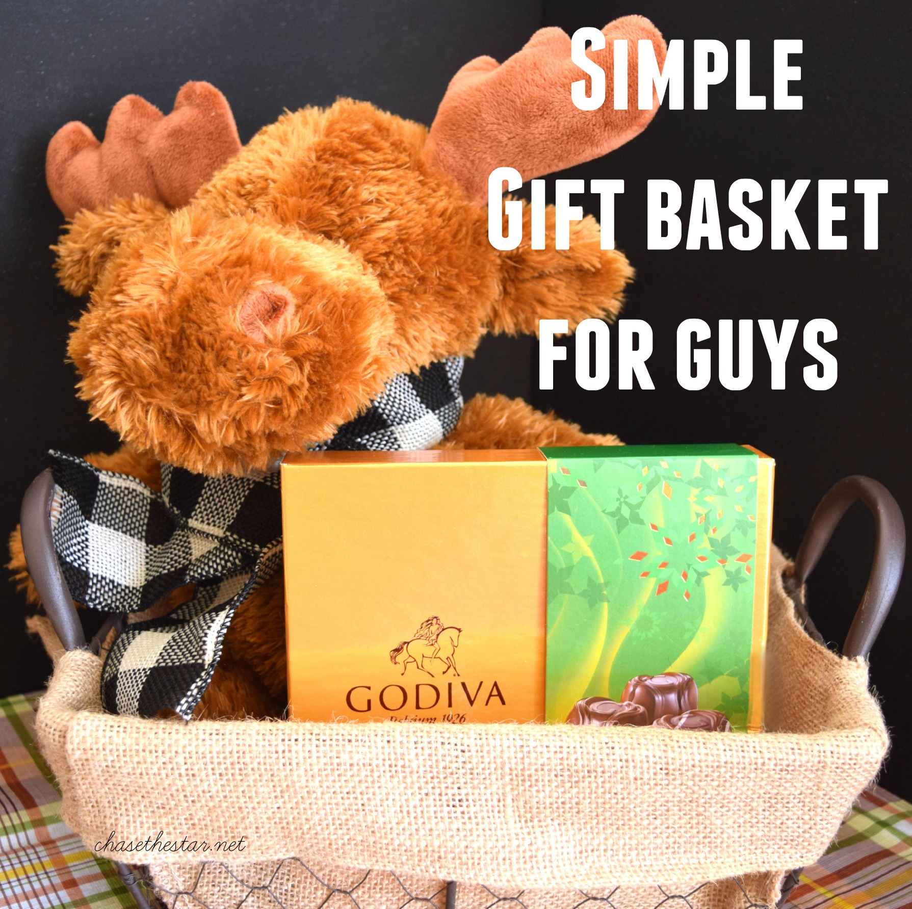 Simple Gift Basket for Guys #giveGODIVA #ad