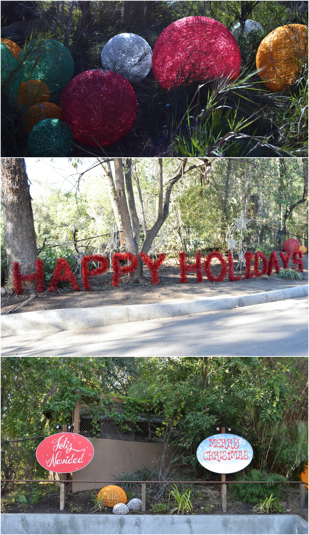 LA Zoo decorated for the hoidays