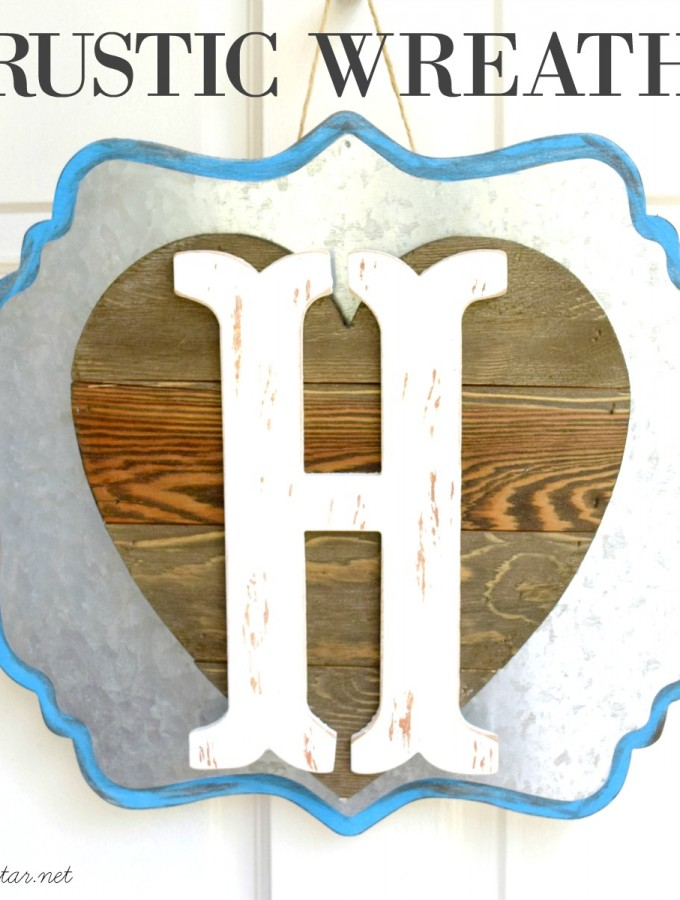 Rustic Spring Wreath #madewithMichaels @michaelsstores Make Market #michaelsmakers feature