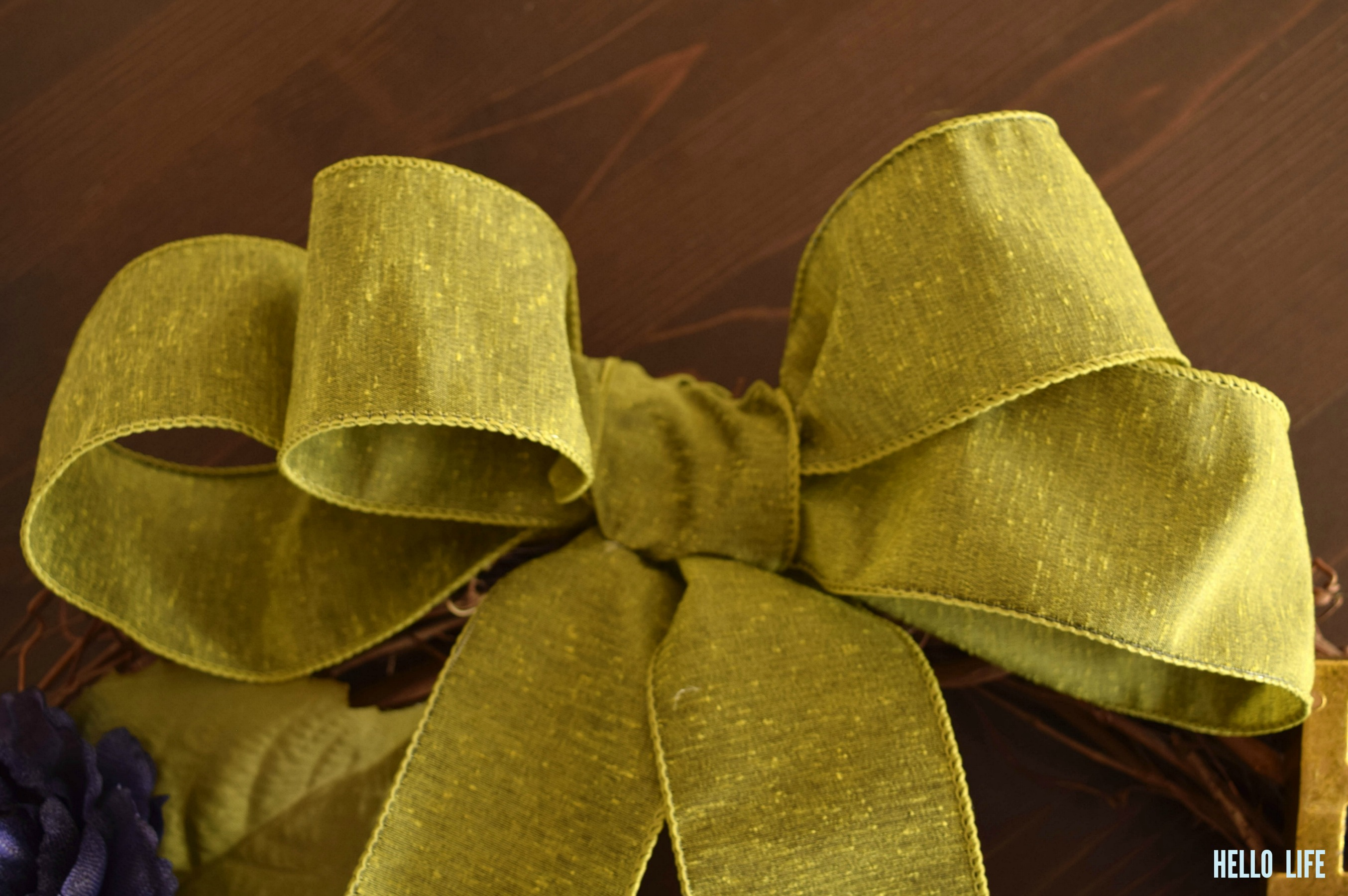 Olive green ribbon from Michaels |Hello Life hellolifeonline.com