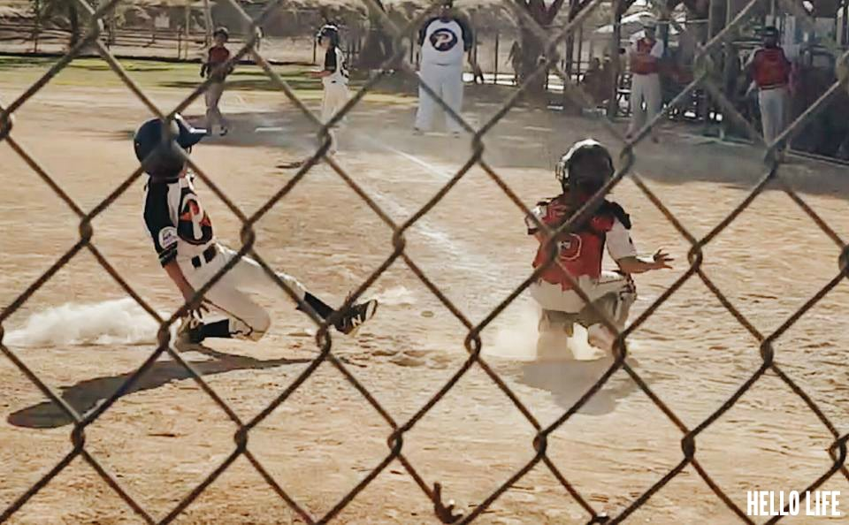 Sliding into home #baseball #littleleague