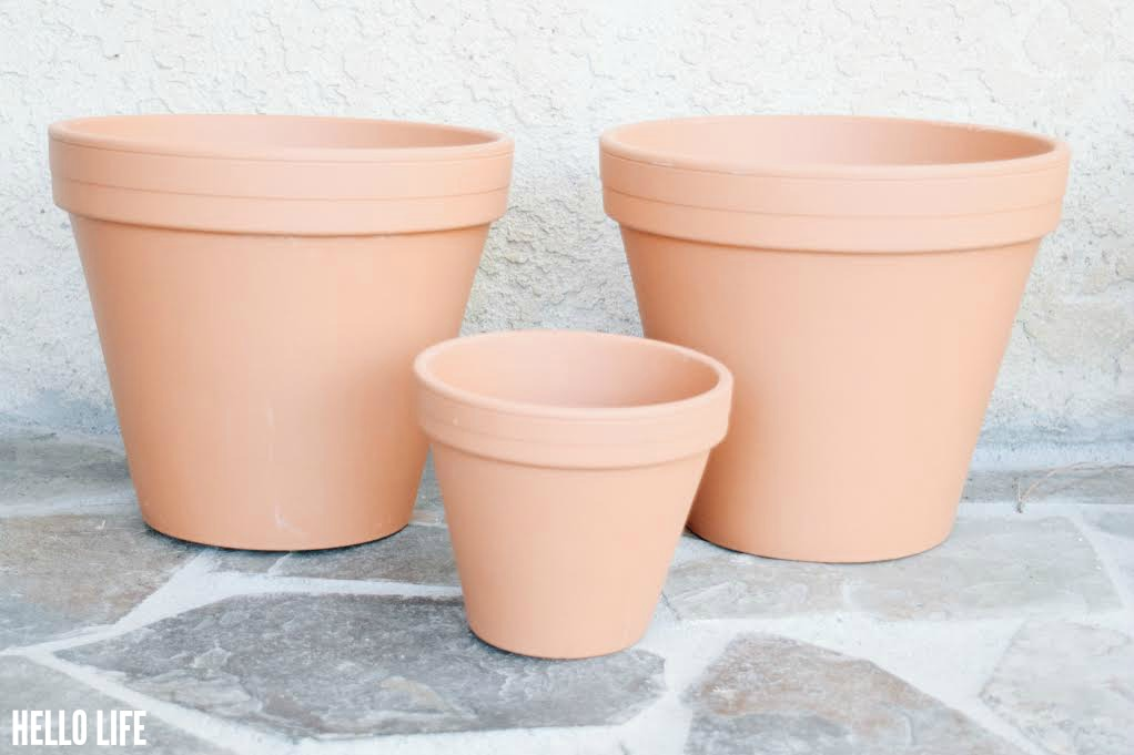 Large Clay Pots from Michaels #MichaelsMakers