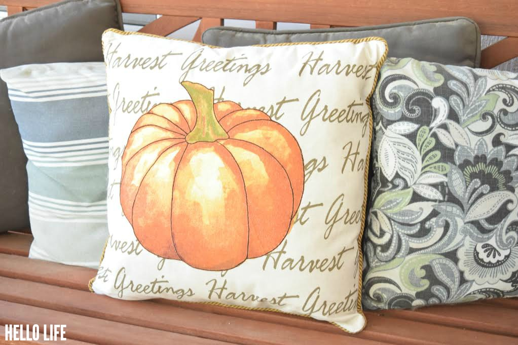 Super cute Pumpkin Pillow! Found at Michaels! #Harvest #fall