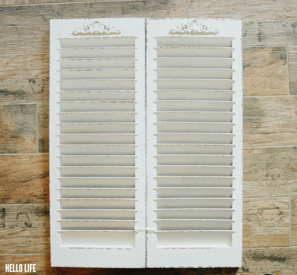 Faux vintage shutters from Michaels! #madewithmichaels