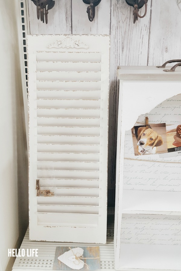 White Window Shutter from Michaels