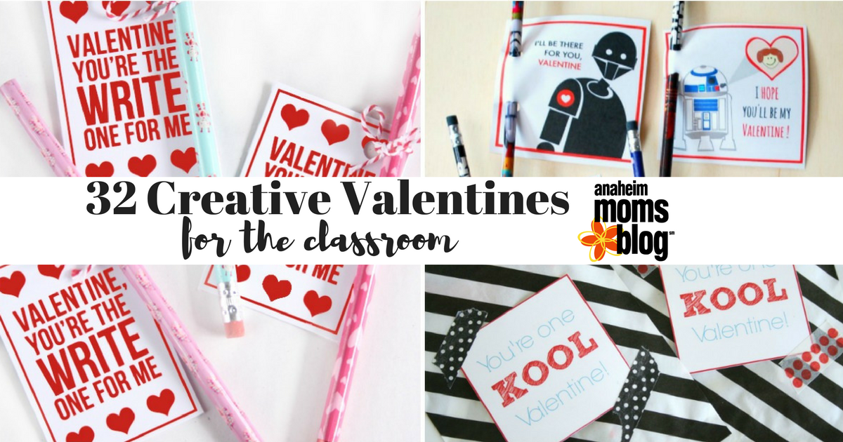 32 Valentine's For the Classroom- You'll fall in love with this collection of creative Valentine cards for the classroom! Easy crafts kids can put together themselves or work together with mom, including lots of fun free printables!