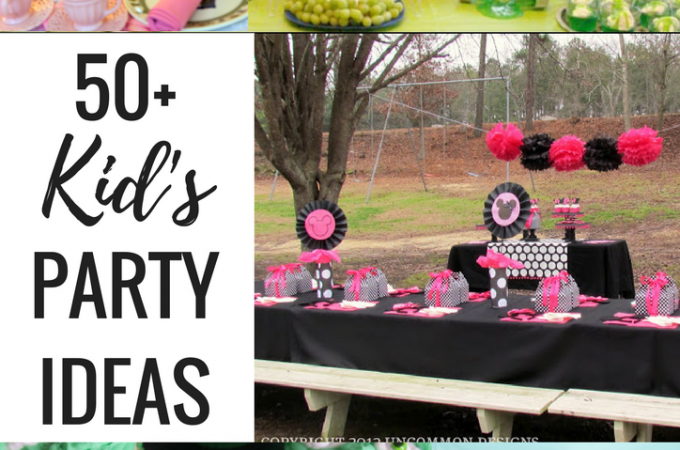 50+ Kid's Party Ideas- Planning a party for kid's any time soon? This is the ultimate collection of Kid's Party Ideas! Find party themes, games and activities, food and drinks, ideas for favors and decorations. Indoors or outdoors, your kid's party is going to ROCK!